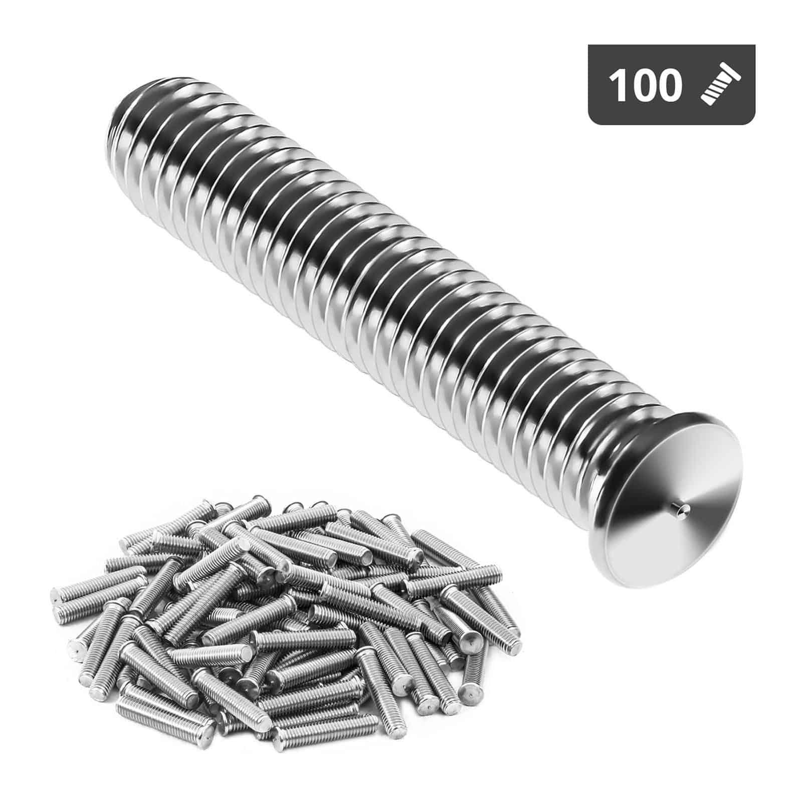 Kołki do zgrzewania - M8 - 40 mm - 100 sztuk