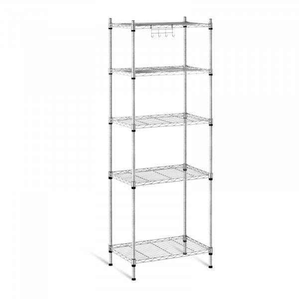 Scaffale metallico componibile - 35 x 55 x 150 cm - 150 kg - grigio