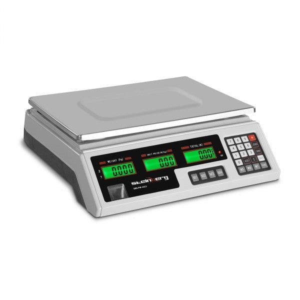 Artigos usados Balança de controlo - LCD - 40 kg / 2 g - Branca