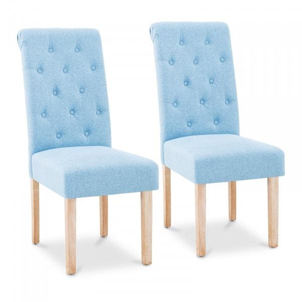 Krzesło tapicerowane - niebieskie - 2 szt.