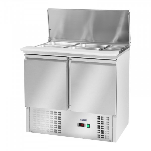 Pizza Cooling Table with a Hinged Lid - 240 L - 2 Doors