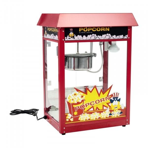 Gesamtansicht von Popcornmaschine - rot