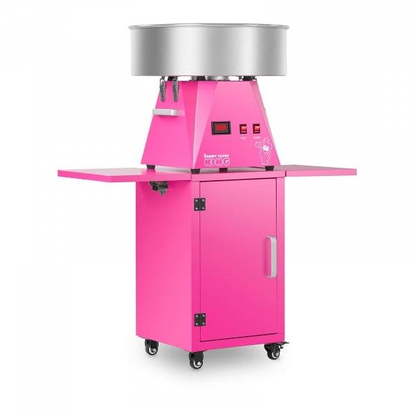 Zuckerwattemaschine Set mit Unterwagen - 52 cm - pink/pink