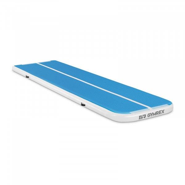 Aufblasbare Turnmatte - 400 x 100 x 10 cm - 170 kg - blau/weiß