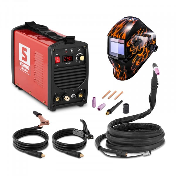 Set de soldadura Soldador tig - 250 A - 230 V - portátil + Careta de soldar – Firestarter 500 – ADVANCED SERIES