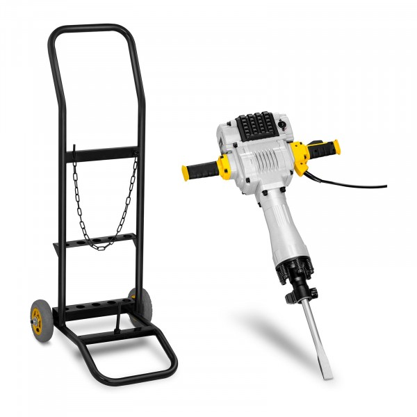 Demolition Hammer with Trolley - 2,100 W - 1,600 bpm - 85 J - SDS HEX