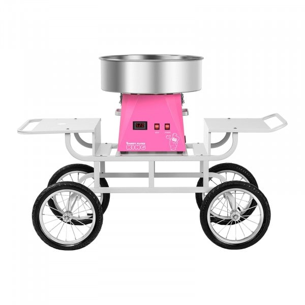 Candy Floss Machine Set with Cart - 52 cm - Pink/White