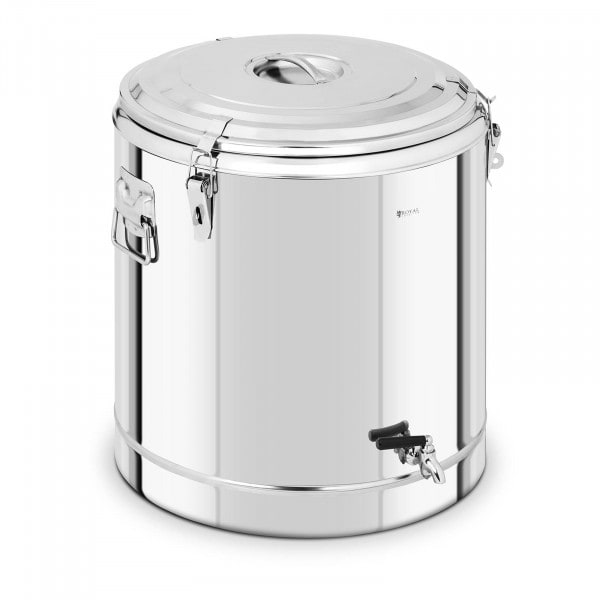 Stainless Steel Thermos Container - 70 L - with drain tap