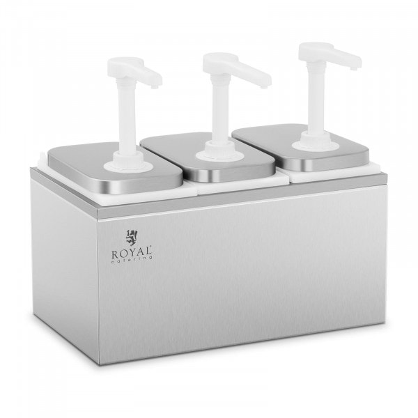 Dressing-dispenser - 3 pumper - 3 x 2 liter