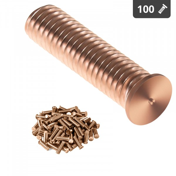 Schweißbolzen - M5 - 20 mm - Stahl - 100 Stück