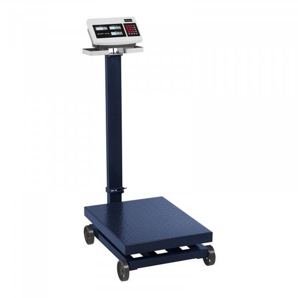 Plattformsvåg - 600 kg / 100 g - med hjul
