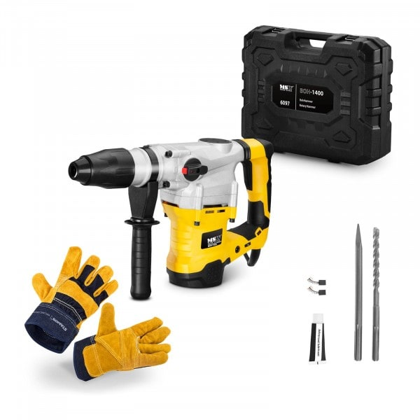 Rotary Hammer Set BOH-1400-SET - Work gloves - 1,400 W