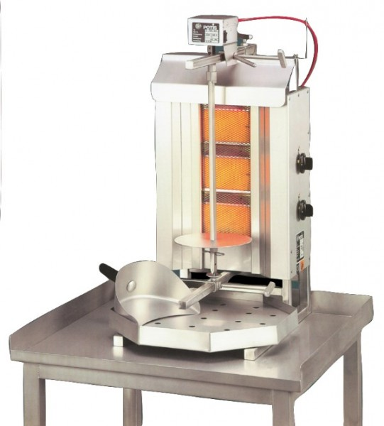 Gas-Gyrosgerät Potis G1 - 395x500x795 mm - komplett - mit - Fettwanne - Stellfläche 395x500mm - Gerä