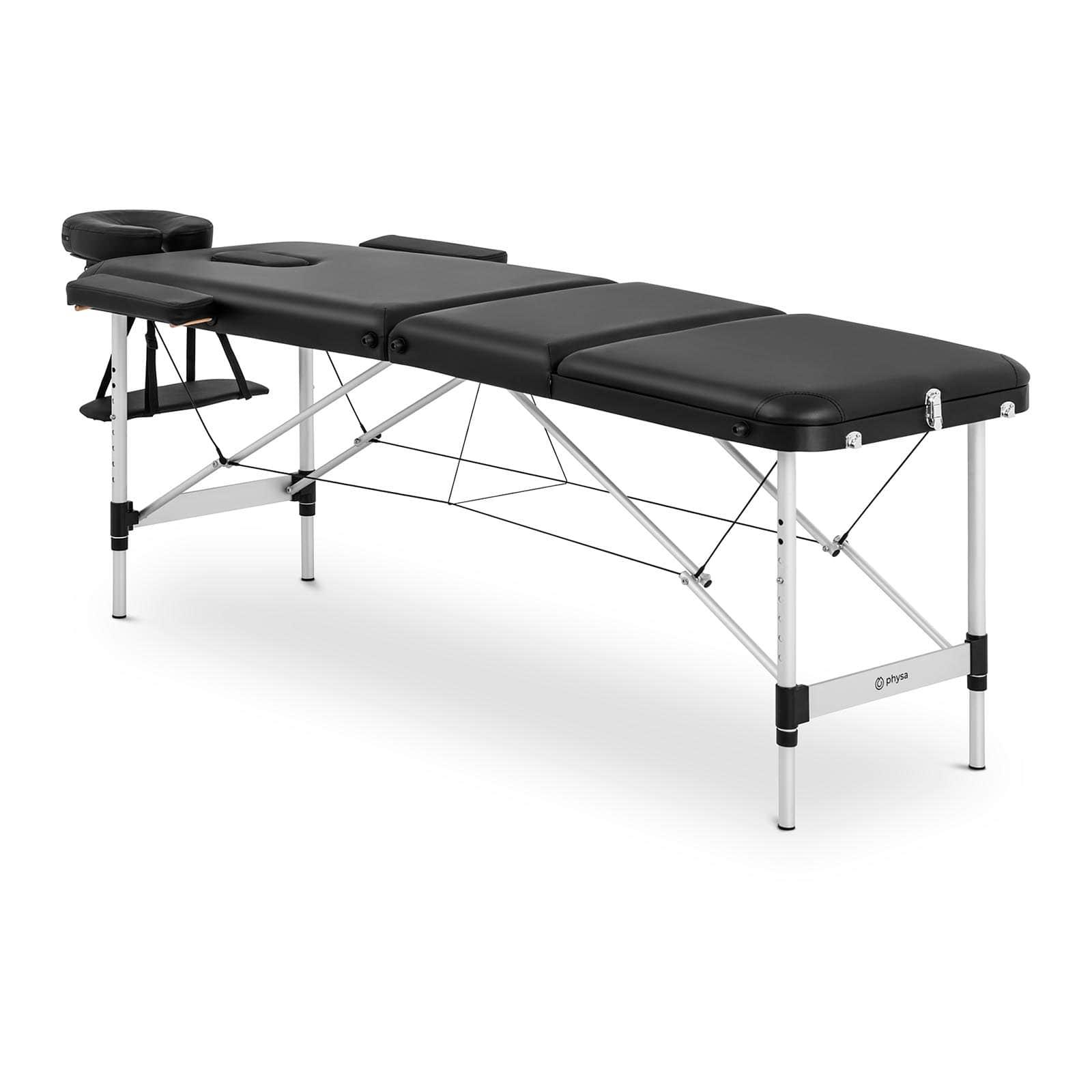 Łóżko do masażu Bordeux Black - składane - czarne