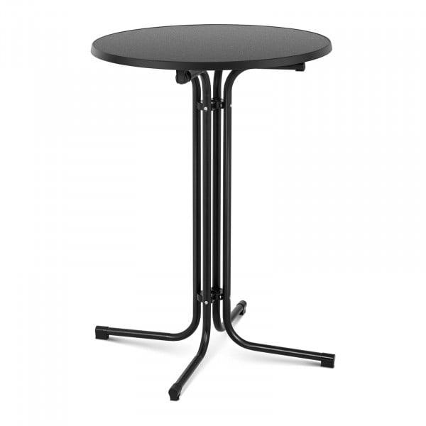 B-zboží Koktejlový stůl - Ø 80 cm - skládací - černý