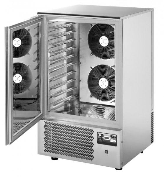 Schockfroster mit Aggregat - 750x740x1260/1290mm - 1490W - 230V - Kapazität 25 kg (+3°C) /20 kg (-18