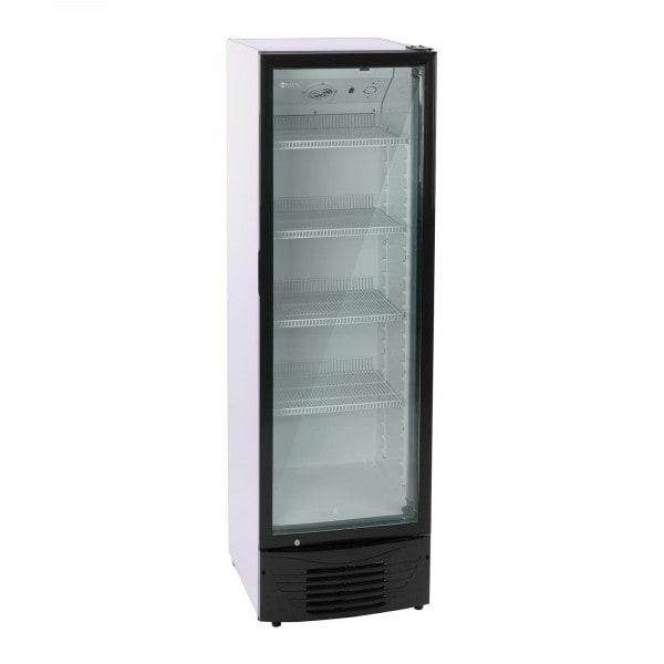 Flaschenkühlschrank - 320 L - LED - schwarzer Rahmen