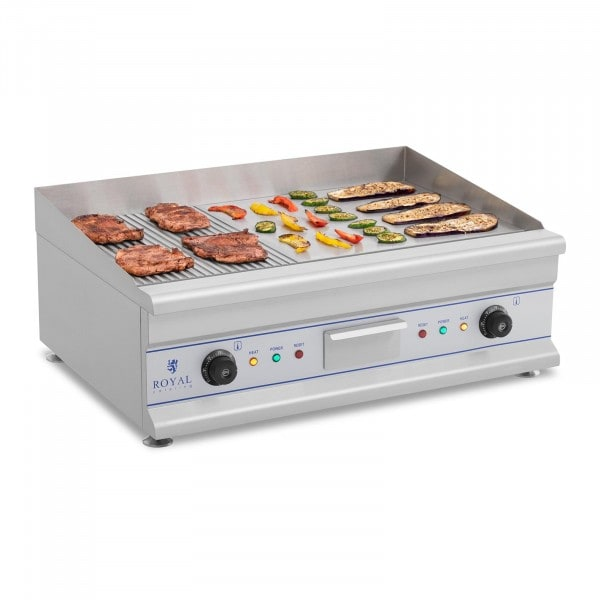 Electric Griddle - 75 cm - ribbed/smooth - 2 x 3200 W