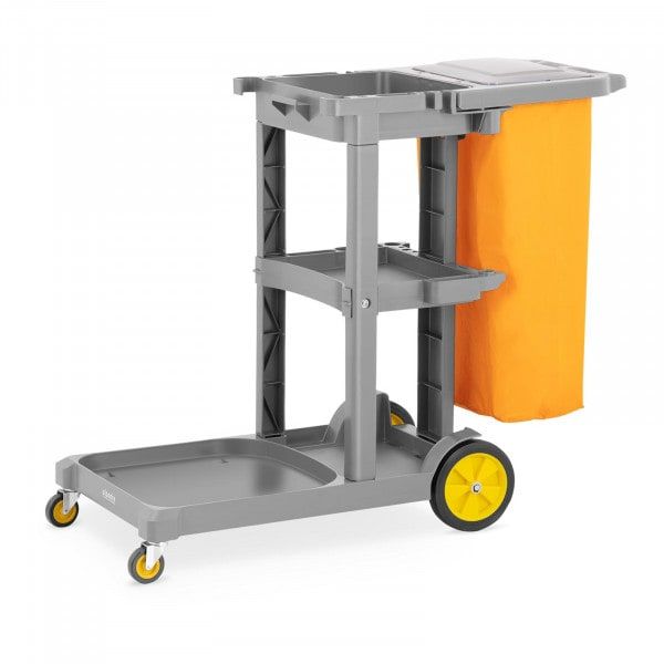 Cleaning Trolley - with laundry bag and lid
