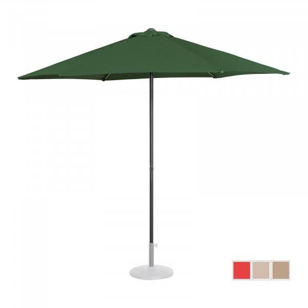 Large Outdoor Umbrella - green - hexagonal - Ø 270 cm