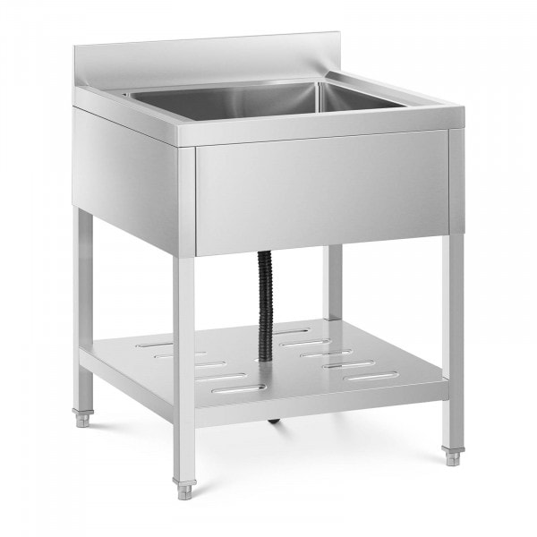 Commercial Kitchen Sink - 1 basin - stainless steel - 50 x 50 x 25.5 cm