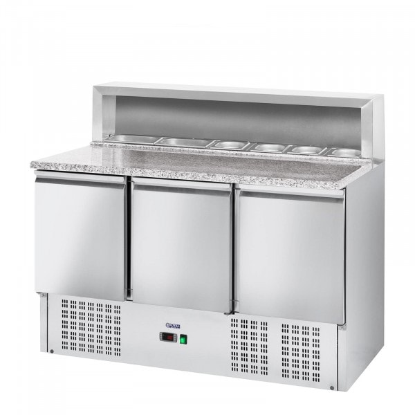Pizza Cooling Table - 379 L - Granite Counter - 3 Doors