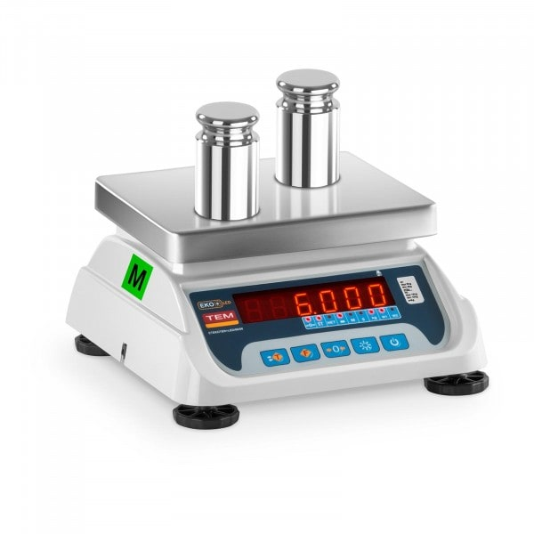 Electronic Weighing Scale - 3 kg/1 g - 6 kg/2 g - LED