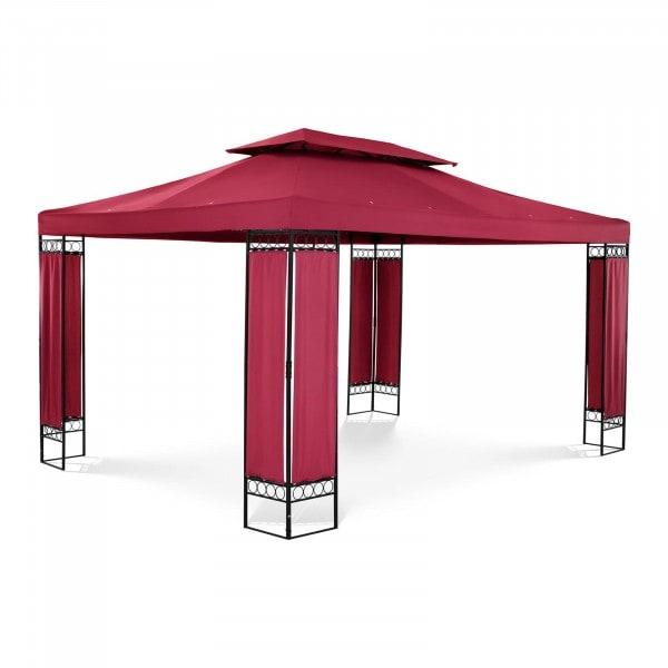 Patio Gazebo - 3 x 4 m - 180 g/m² - wine red