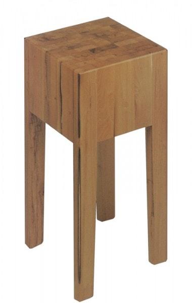 Hackklotz aus gezargtem Holz - 400x400x200 mm