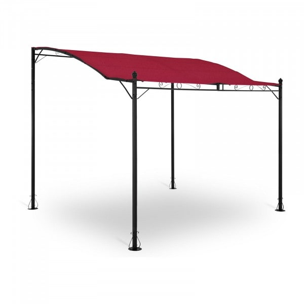 Occasion Pergola inclinée rouge vin - 2,6 x 3 m
