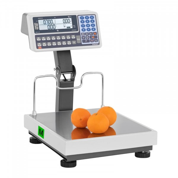 Price Calculating Scale with Raised Display - calibrated - 30 kg/10 g - 60 kg/20 g