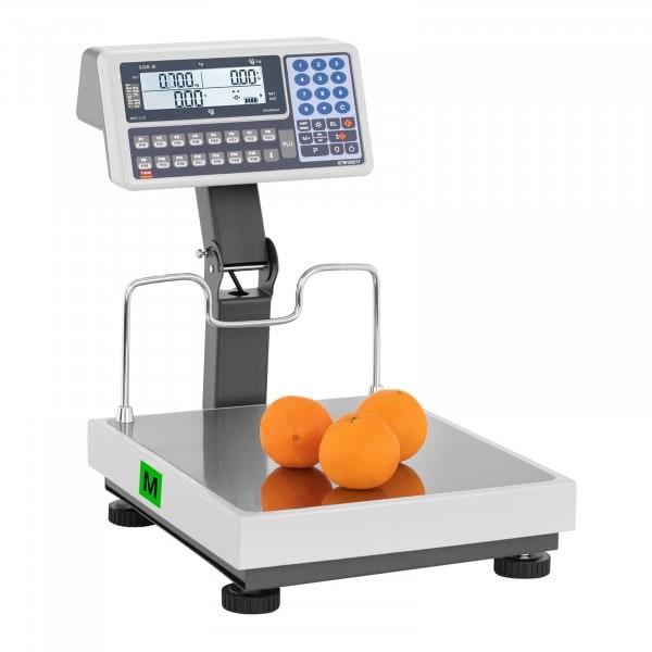Butiksvåg med hög display - verifierad - 30 kg / 10 g - 60 kg / 20 g