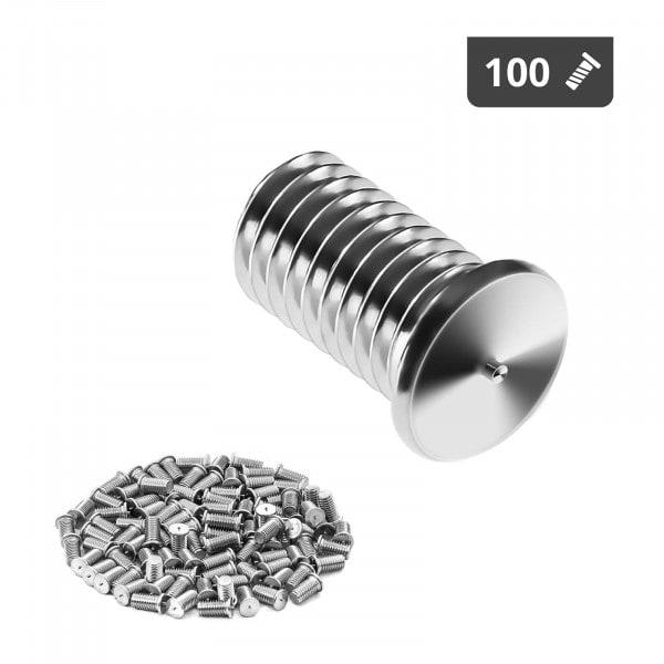 Schweißbolzen - M5 - 10 mm - Edelstahl - 100 Stück