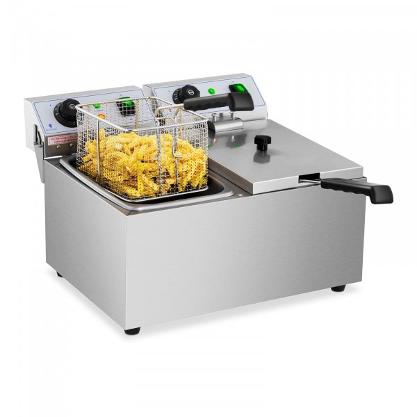 Electric deep fryer - 2 x 8 L - 230 V