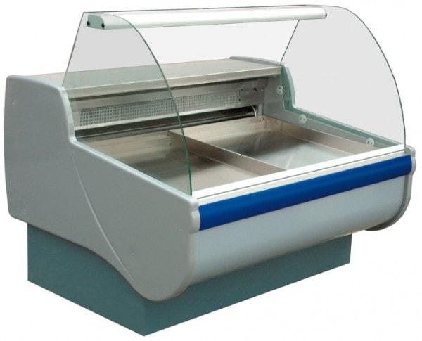 Fischkühltheke - mit gebogener Scheibe - 230 V - 0,547 kW