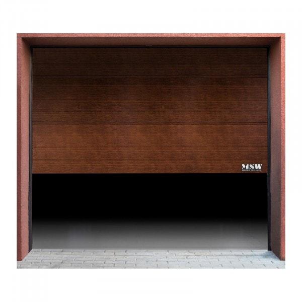 Porte de garage sectionnelle - 2 500 x 2 125 mm - couleur noyer noir