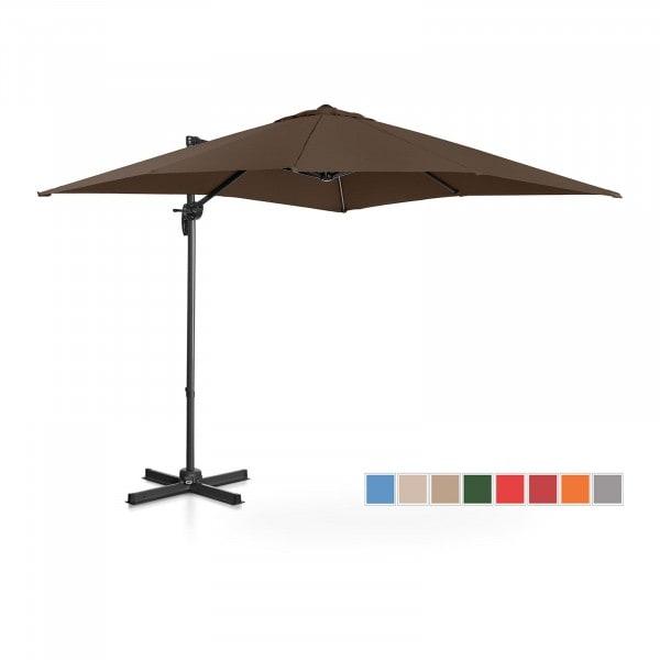 B-termék Lámpa formájú napernyő - barna - szögletes - 250 x 250 cm - forgatható