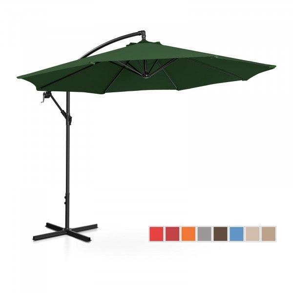 Brugt Hængeparasol - grøn - rund - 300 cm i diameter - knæk-position
