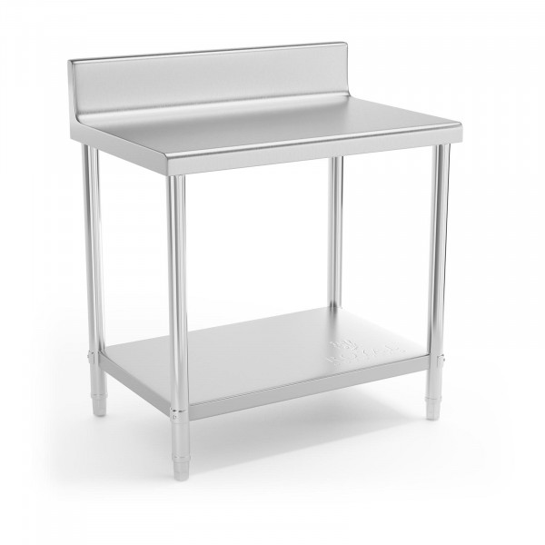 Stainless Steel Work Table - 90 x 60 cm - upstand - 210 kg load capacity