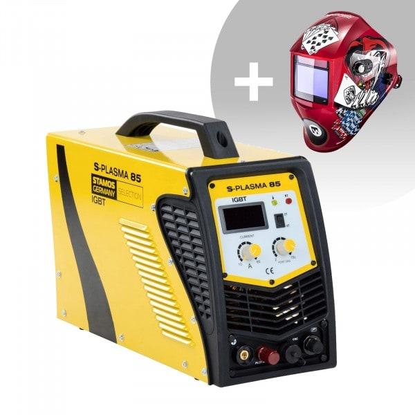 Schweißset CNC Plasmaschneider - 85 A - 400 V - Pilotzündung + Schweißhelm – Pokerface
