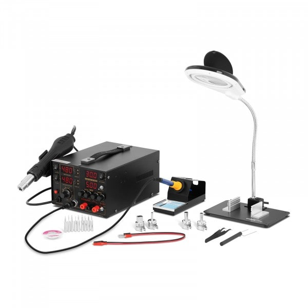 Factory seconds Set Soldering Station with integrated Mains Adapter + Accessoires