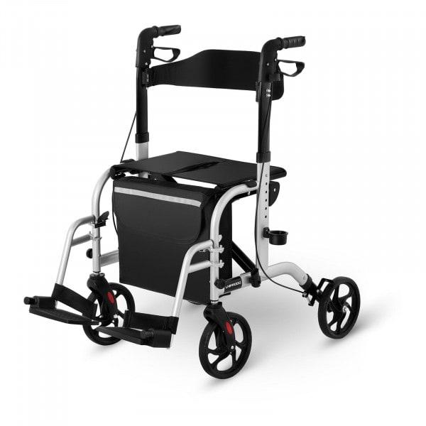B-varer Rollator Wheelchair 2-in-1 - silver - 136 kg