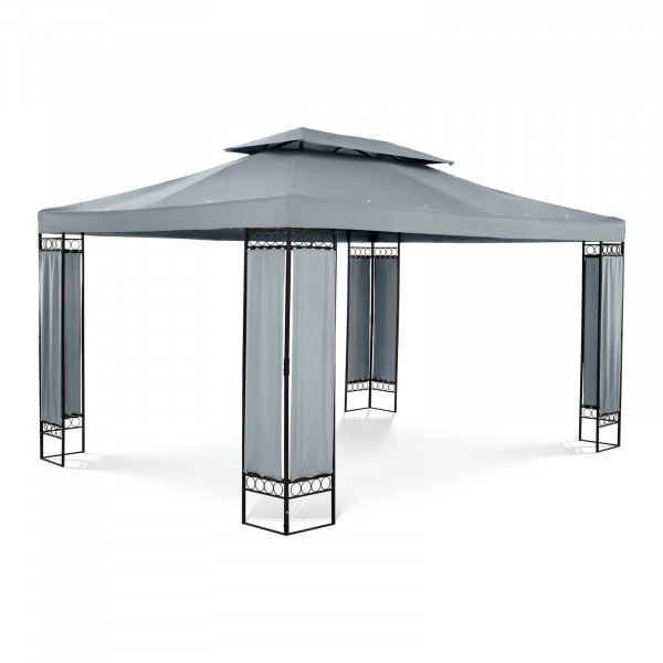 Patio Gazebo - 3 x 4 m - 180 g/m² - dark grey