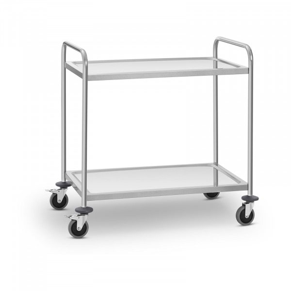 Stainless Steel Service Trolley - 2 shelves - up to 120 kg