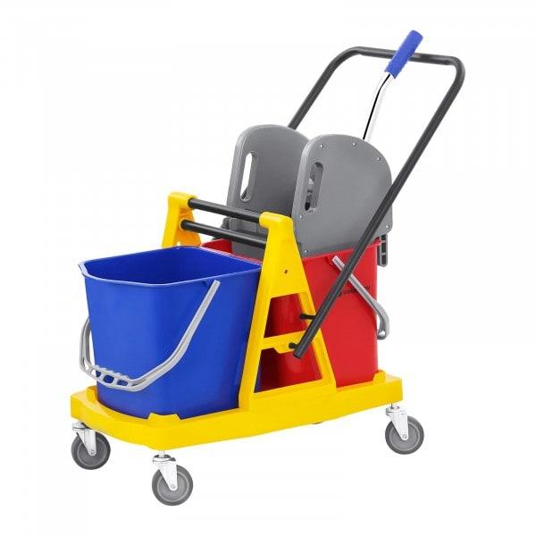 Carro de limpieza con prensa - 2 cubos - 40 L