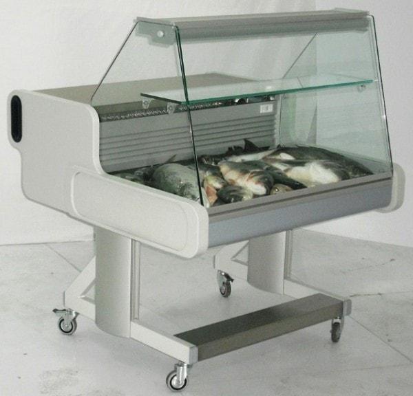 Fischtheke fahrbar - 1074x1114x1105 mm
