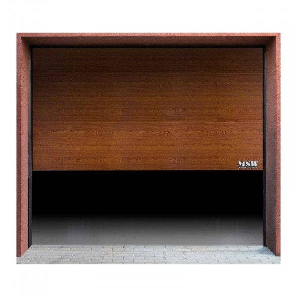Portão de garagem - segmentado - 2375 x 2125 mm - carvalho dourado