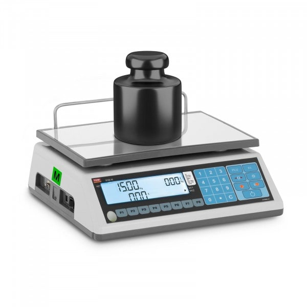 Price Calculating Scale - calibrated - 6 kg/2 g - 15 kg/5 g