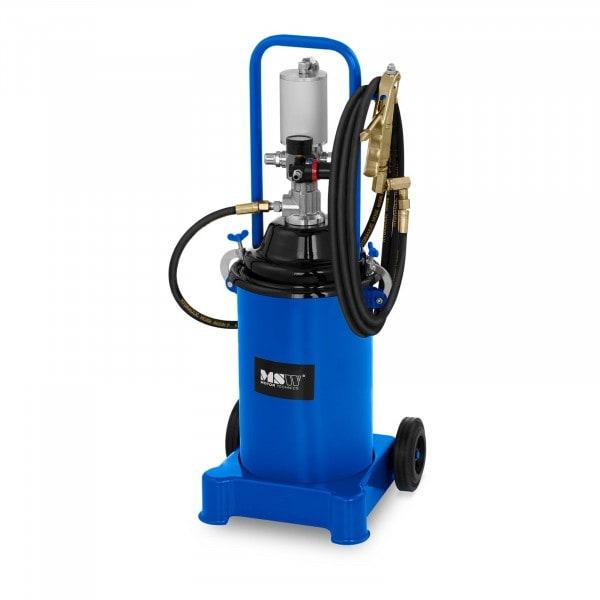 Pompe à graisse pneumatique - 12 litres - Mobile - Pression de 300 à 400 bars
