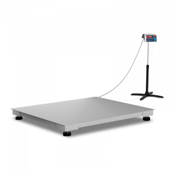 Podlahová váha - cejchovaná - 600 kg / 200 g - 100 x 120 cm - LED